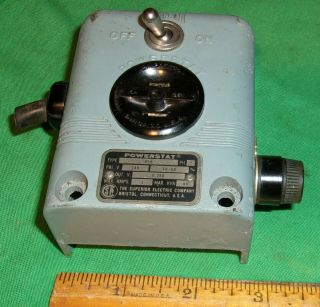 Superior Electric Powerstat Variable Autotransformer Switch Socket Fuse Assembly
