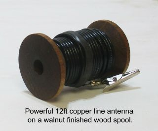 Stranded Copper Line Am Sw Antenna Hook Up Wire – Old Antique Wood Tube Radio