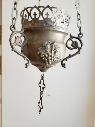 2 Ornate Antique Religious Brass Or Copper Incense Thurible Censer Double Eagle