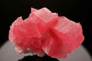 Classic Rhodochrosite Crystal Cluster With Quartz Sweet Home Mine,  Colorado