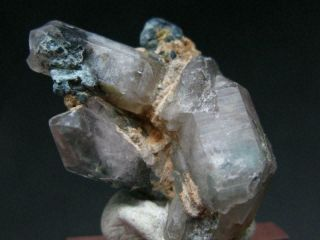 """Ajoite & Papagoite In Quartz Crystal From South Africa - 1.  3 """""""