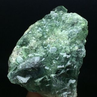 153g Natural Translucent Green Cube Fluorite Crystal Mineral Specimen/china
