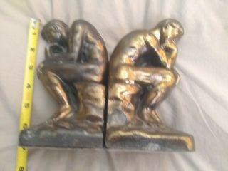 French Bronze,  The Thinker,  By Rodan Antique Bookends