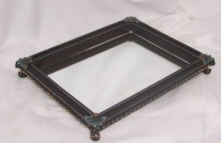 Partylite Regal Candle Tray Molded Poly Resin Antiqued Bronze Finish P8293