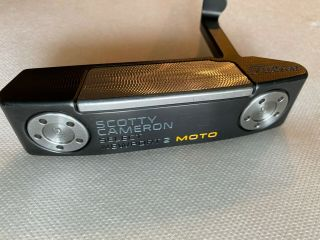 """Scotty Cameron Rare All Black Moto Newport 2 36 """" Black Shafted And Stamped"""