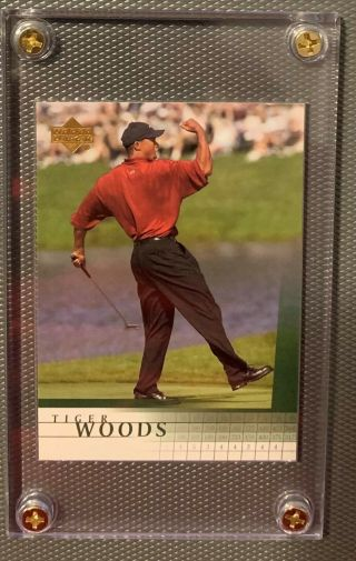 Very Rare 2001 Upper Deck Golf Tiger Woods National Vip Promo Rookie Rc