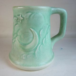 Rare Rookwood Pottery Stein Mug Alpha Delta Phi Fraternity Star & Crescent