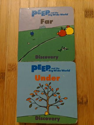 Peep And The Big Wide World Two Board Books,  Far & Under,  Rare