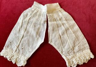 Antique Fancy Pantaloons For French / German Bisque Doll Or Vintage Doll