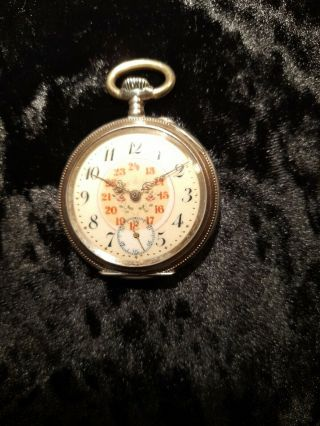 A Fine Rare Vintage Solid Silver Gents French Pocketwatch.  As Not.