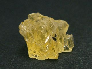 """Rare Etched Gem Heliodor Crystal From Brazil 0.  8 """" - 14.  4 Carats"""