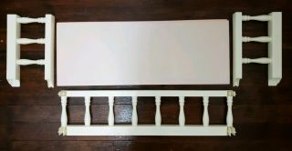 Barbie Magical Mansion Replacement Part - - 3rd Floor Roof Patio & Railings