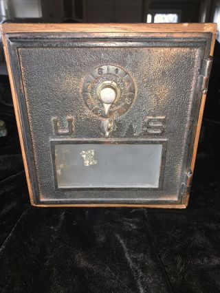Antique Vintage Post Office Door Early 1900s Mail Box Postal Piggy Bank