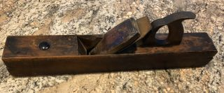 Antique Unmarked Wooden Ogee Plane From An Old Farm Estate In Ohio