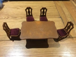 Sylvanian Families Dining Set Table And Chairs Vintage