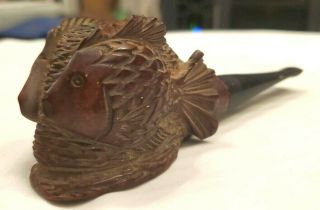 Rare Ca1934 - 1949 Marxman Hand - Carved Fish Pipe,  Imported Briar,  U.  S.  A. ,  Tobacco