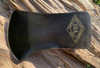 Rare Vintage Brown Camp Hardware Co.  I.  O.  A.  Embossed Single Bit Axe Head