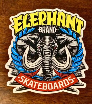 Elephant Skateboards - Vintage Large Sticker Mike Vallely Powell Peralta