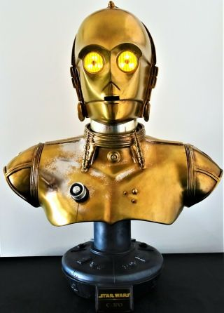Star Wars Sideshow C - 3po Life - Size Bust Statue Figure Fred Barton Robot Droid